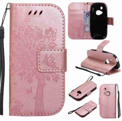 Double Embossed Sun Flower PU TPU Phone Case for Nokia 3310 - ROSE GOLD