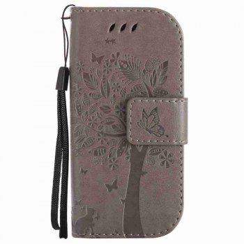 Double Embossed Sun Flower PU TPU Phone Case for Nokia 3310 -  GRAY