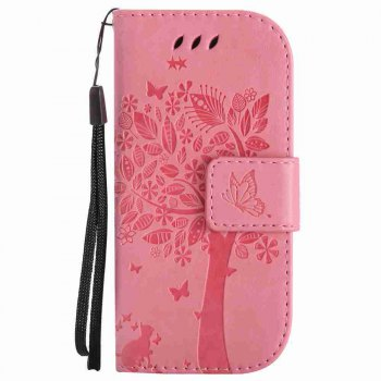 Double Embossed Sun Flower PU TPU Phone Case for Nokia 3310 - PINK PINK