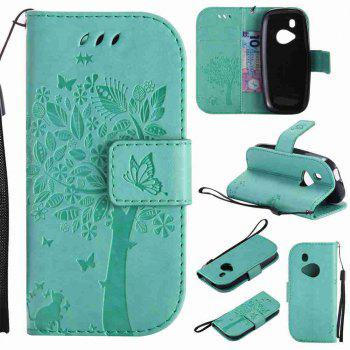 Double Embossed Sun Flower PU TPU Phone Case for Nokia 3310 - GREEN GREEN