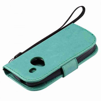 Double Embossed Sun Flower PU TPU Phone Case for Nokia 3310 -  GREEN