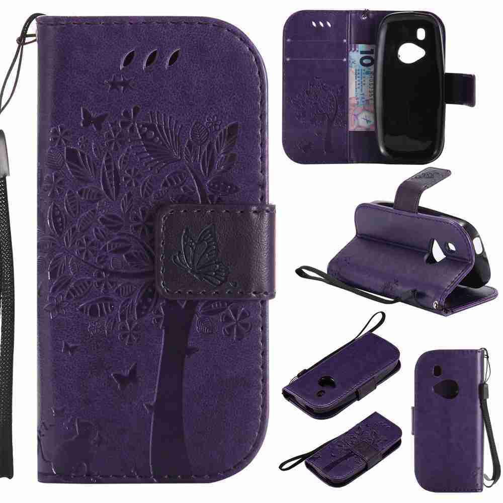 Double Embossed Sun Flower PU TPU Phone Case for Nokia 3310 - PURPLE