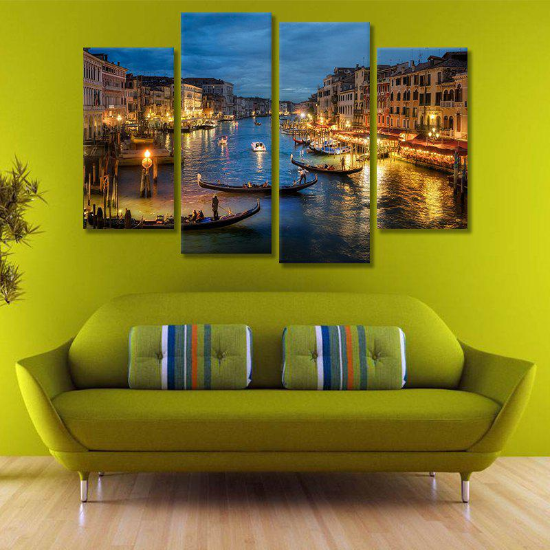 Modern Unframed Canvas Art Prints for Home Wall Decoration 4pcs wall art sunset pyramids printed unframed canvas paintings