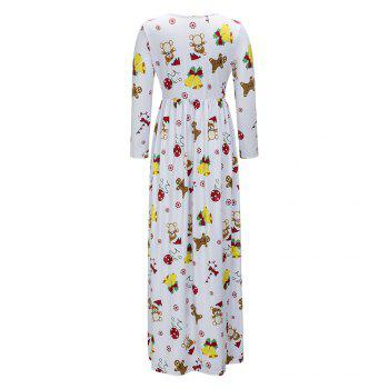 2017 Nouveau Lovely Christmas Floral Robes - Blanc 2XL