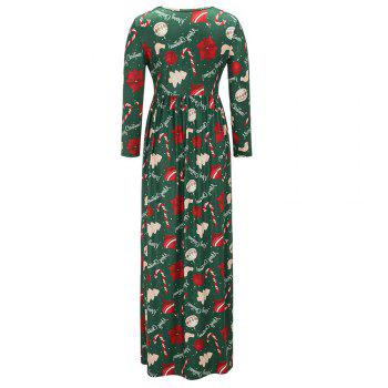 2017 Nouveau Lovely Christmas Floral Robes - Vert M