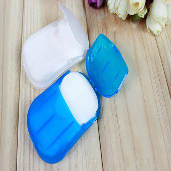Soap Slice Tablets One-off Convenient Sanitary 20PCS - WHITE AND BLUE WHITE/BLUE