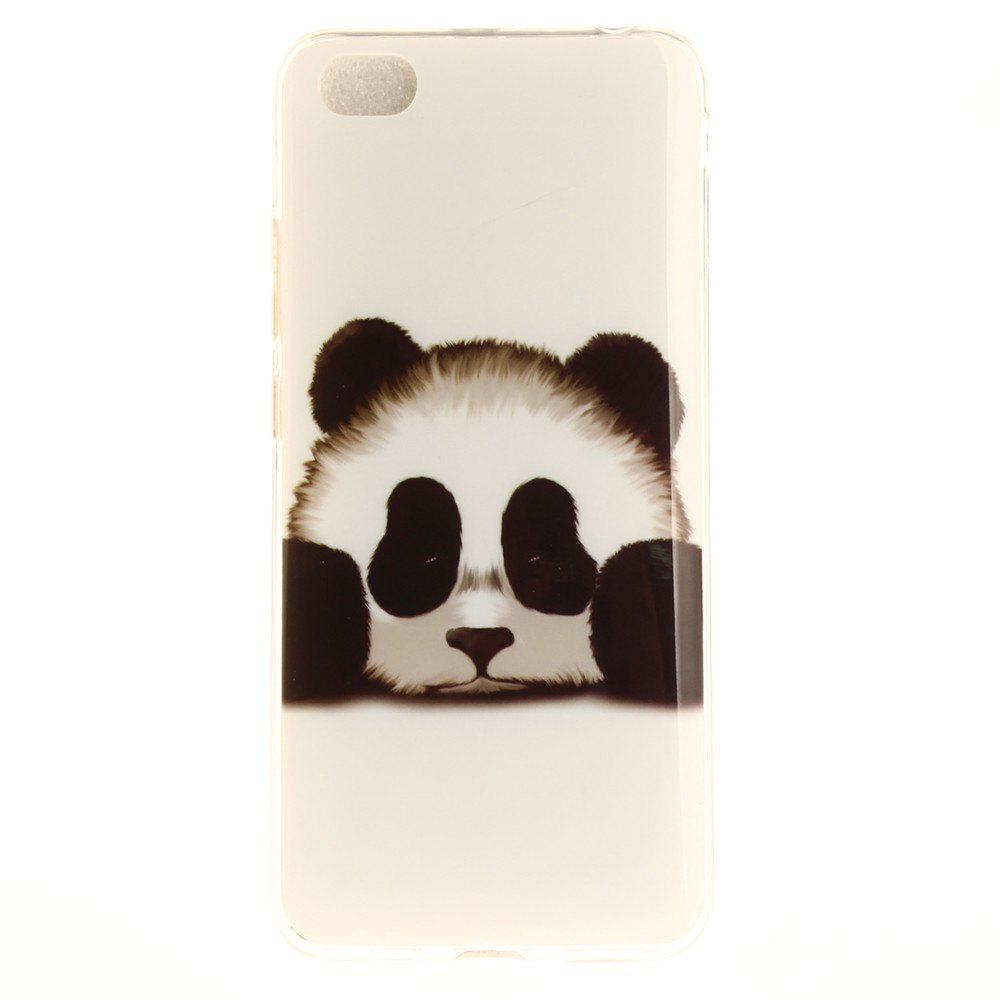Panda Pattern Soft Clear IMD TPU Phone Casing Mobile Smartphone Cover Shell Case for Xiaomi Redmi Note 5A - BLACK