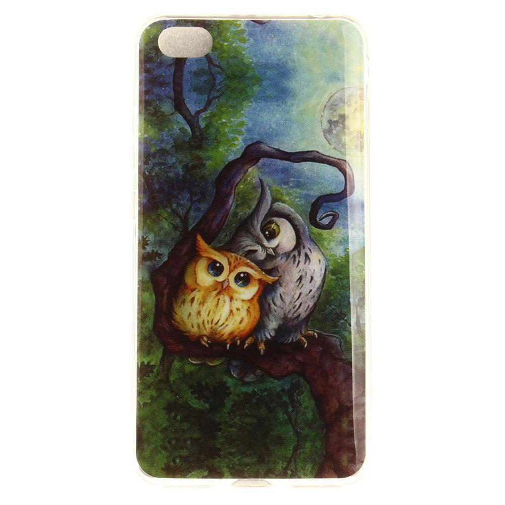 Oil Painting Owl Soft Clear IMD TPU Phone Casing Mobile Smartphone Cover Shell Case for Xiaomi Redmi Note 5A - COLORMIX