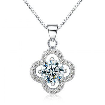 JAMOUR S925 Silver CZ Lucky Clover Fashion Personalized Hypoallergenic Pendants