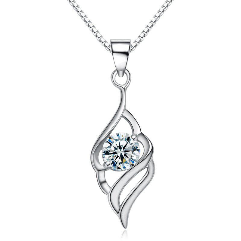 2018 jamour s925 silver angel wings simple fashion personality jamour s925 silver angel wings simple fashion personality hypoallergenic pendant necklace white 09 x 03 aloadofball Choice Image