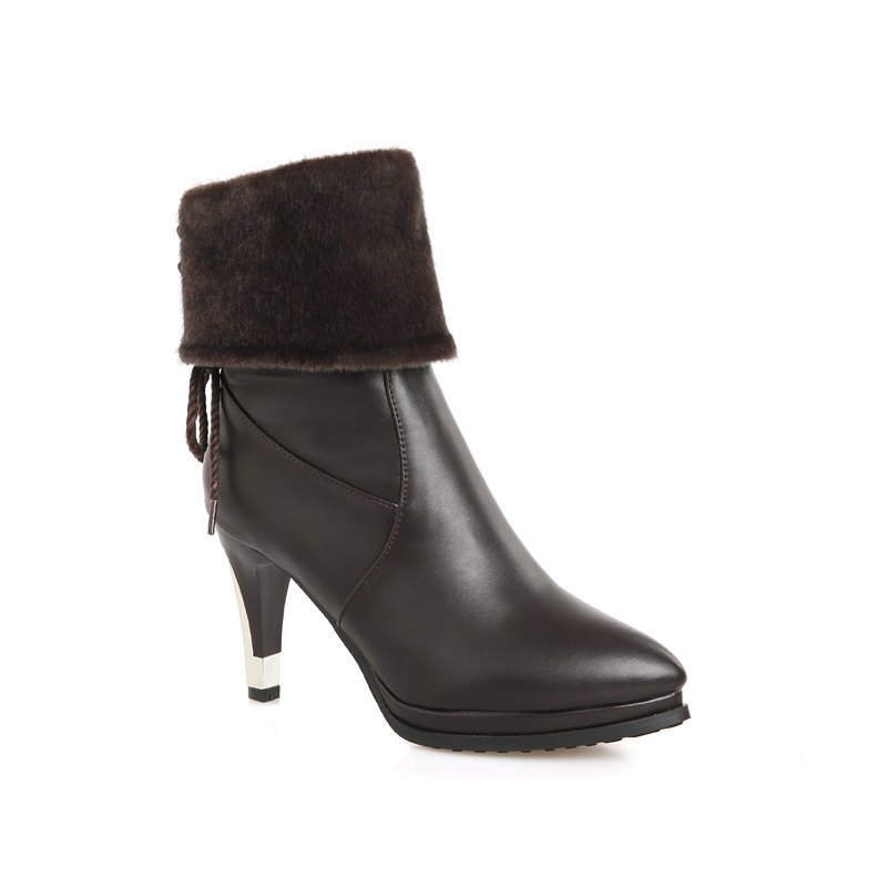 Sharp Pointed High-Heeled Fashion Boots - BROWN 46