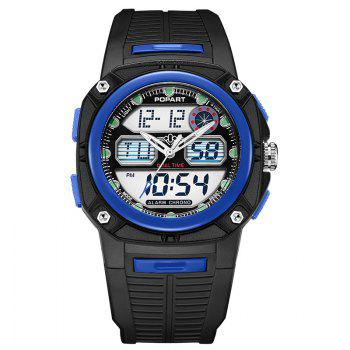 POPART 721AD Fashionable Multifunction Sports Unisex Watch - BLUE BLUE