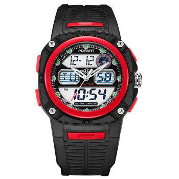 POPART 721AD Fashionable Multifunction Sports Unisex Watch - RED RED