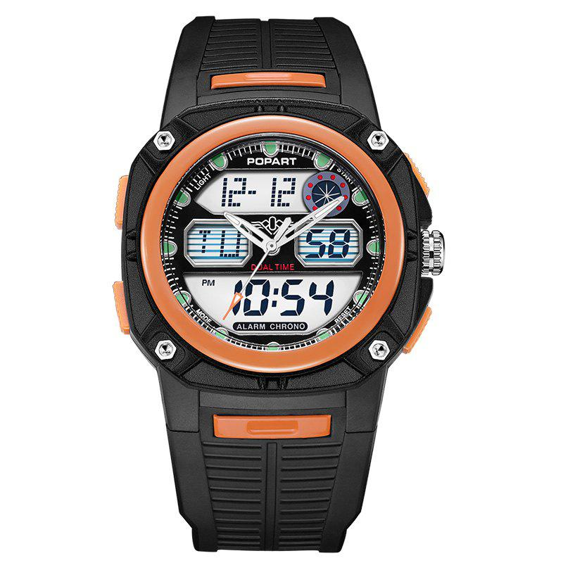 POPART 721AD Fashionable Multifunction Sports Unisex Watch - ORANGE