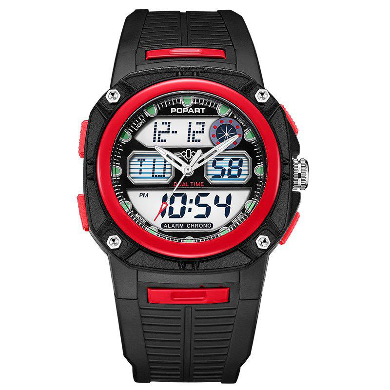 POPART 721AD Fashionable Multifunction Sports Unisex Watch - RED