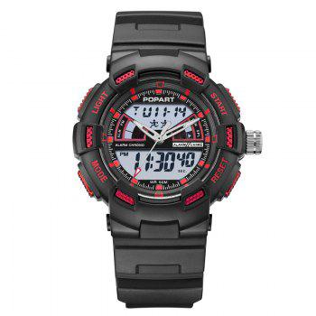 POPART POP792AD Casual Multifunctional Unisex Children Sports Watch - RED RED