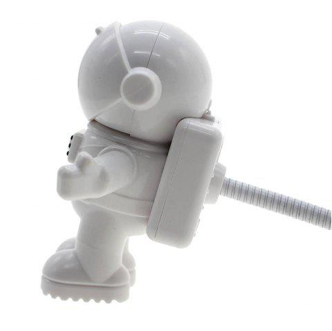 Lampe de clavier USB Mini Astronaut Creative Eye Protection - Blanc