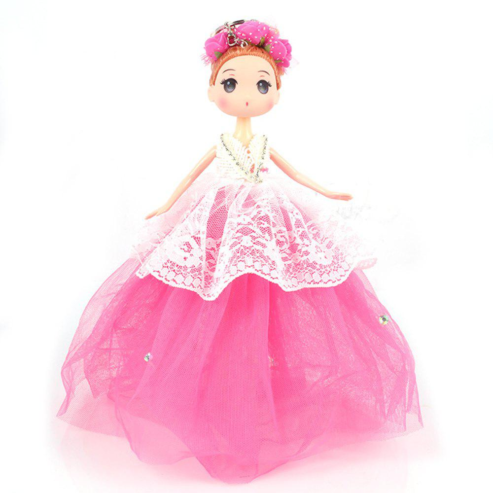 30 CM Cartoon Doll Key Chain Toy - ROSE RED