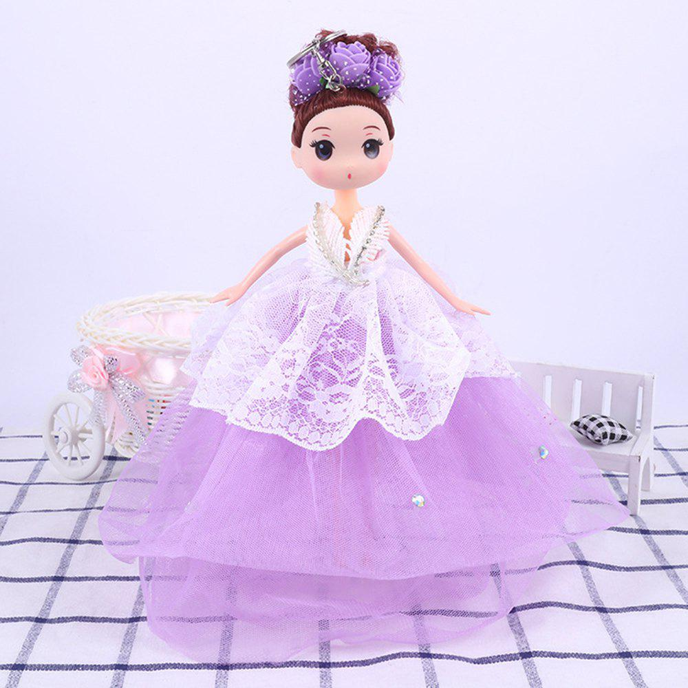 30 CM Cartoon Doll Key Chain Toy - PURPLE