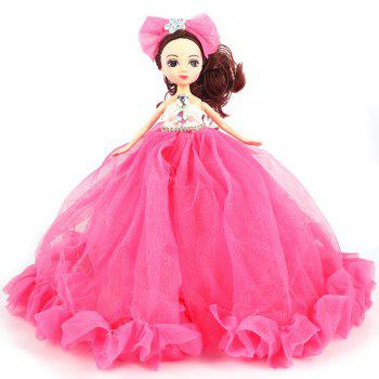 26CM Wedding Dress Lace Girl Doll Toy Pendant - ROSE RED ROSE RED