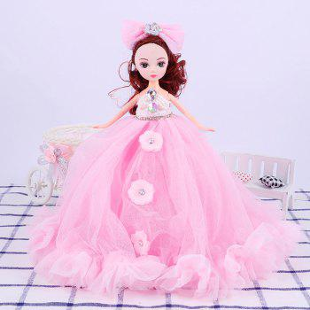 26CM Wedding Dress Lace Girl Doll Toy Pendant - PINK PINK