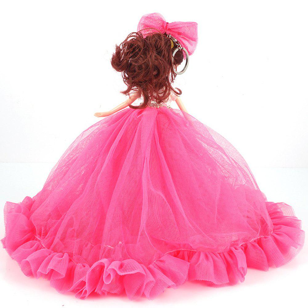 26CM Wedding Dress Lace Girl Doll Toy Pendant - ROSE RED