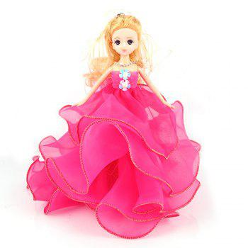 26 Cm Lovely Lace Wedding Dress Gir Doll Toy Pendant - ROSE RED ROSE RED