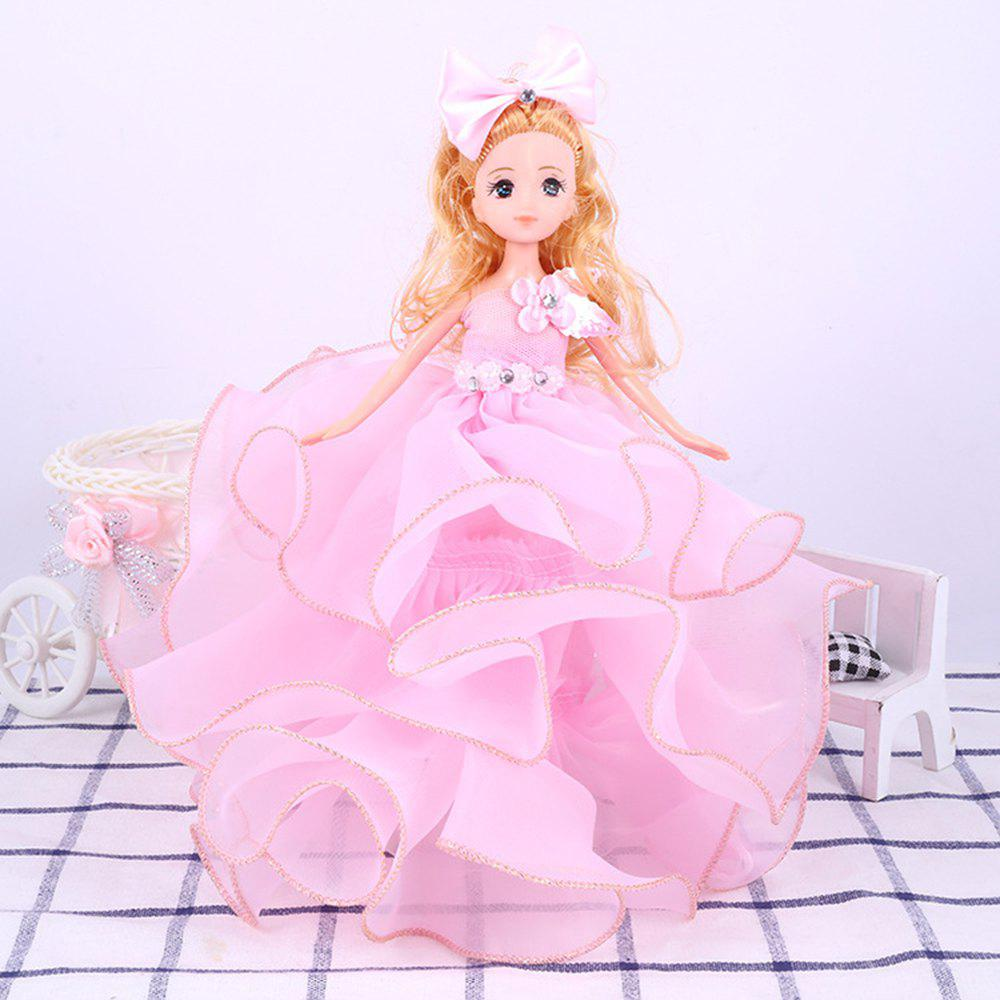 26 Cm Lovely Lace Wedding Dress Gir Doll Toy Pendant - PINK