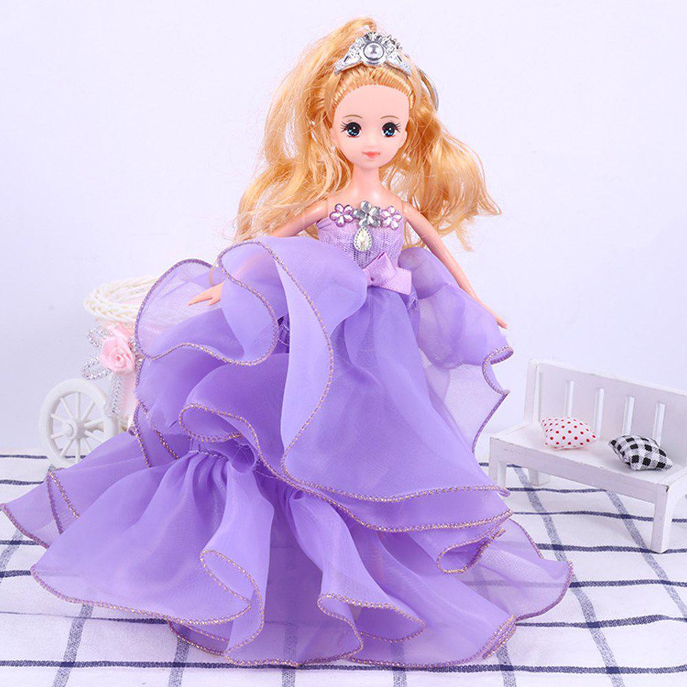26 Cm Lovely Lace Wedding Dress Gir Doll Toy Pendant - PURPLE
