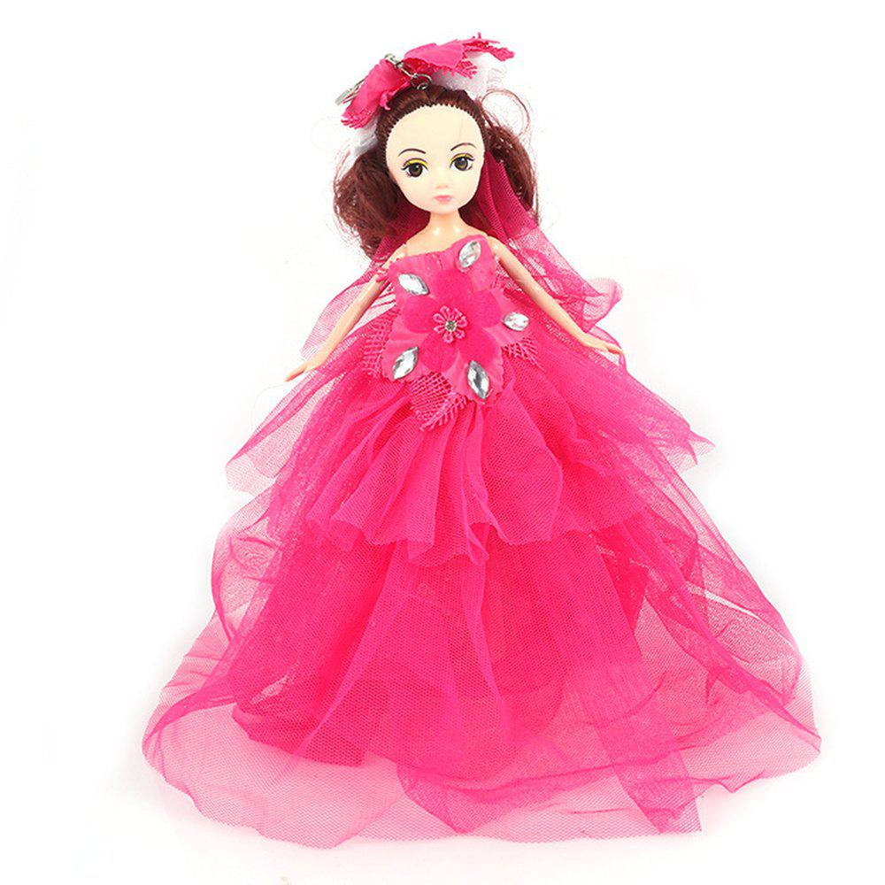 26CM Wedding Doll Princess Keychain Hanging Toy - ROSE RED