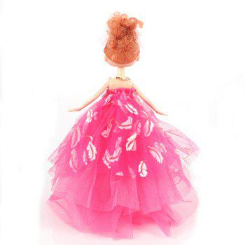 26CM wedding dress doll Toy Pendant - ROSE RED