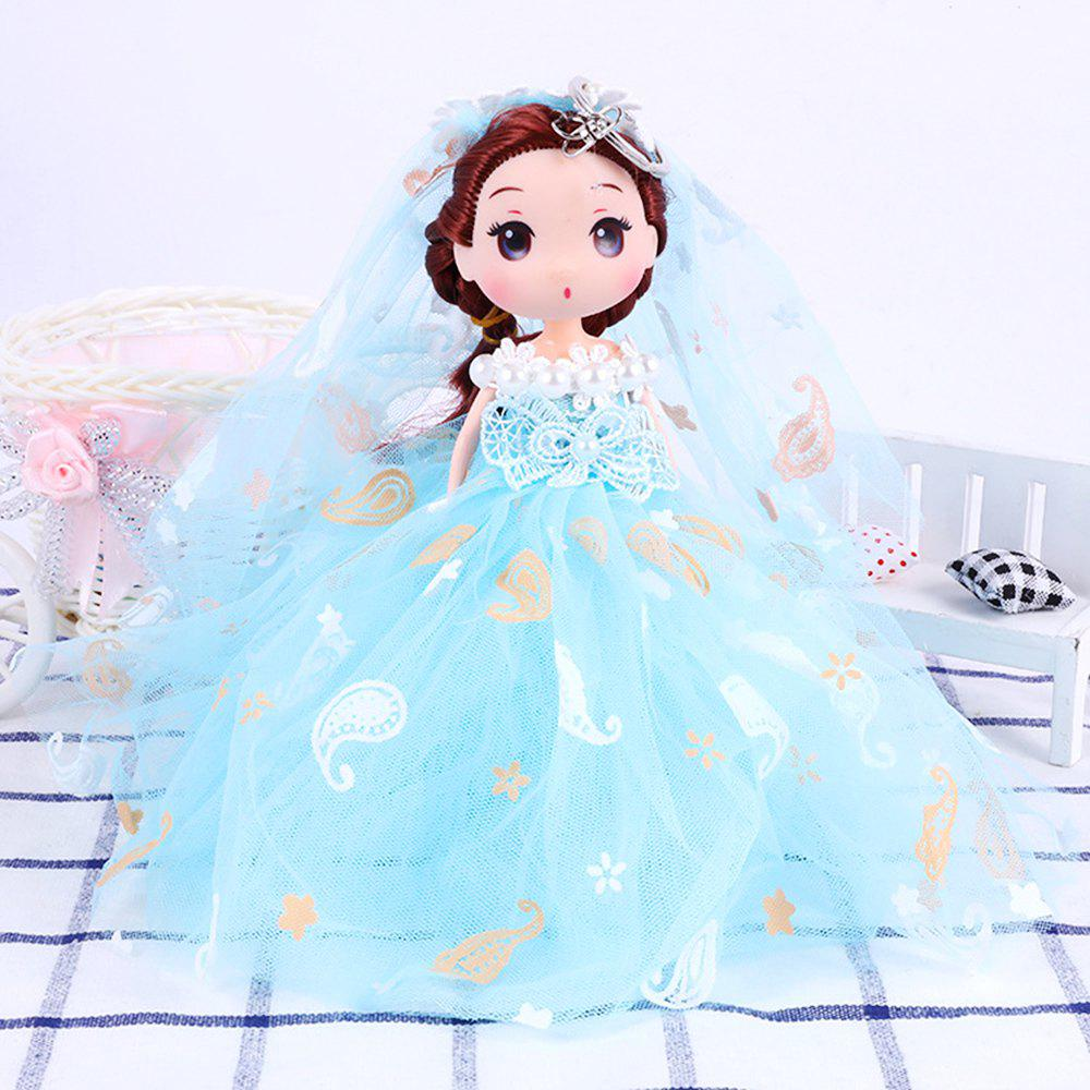 18CM Wedding Dress Creative Cartoon toy Doll pendant - BLUE