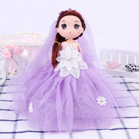 18CM Wedding Dress Doll Cartoon Toy Pendant - PURPLE
