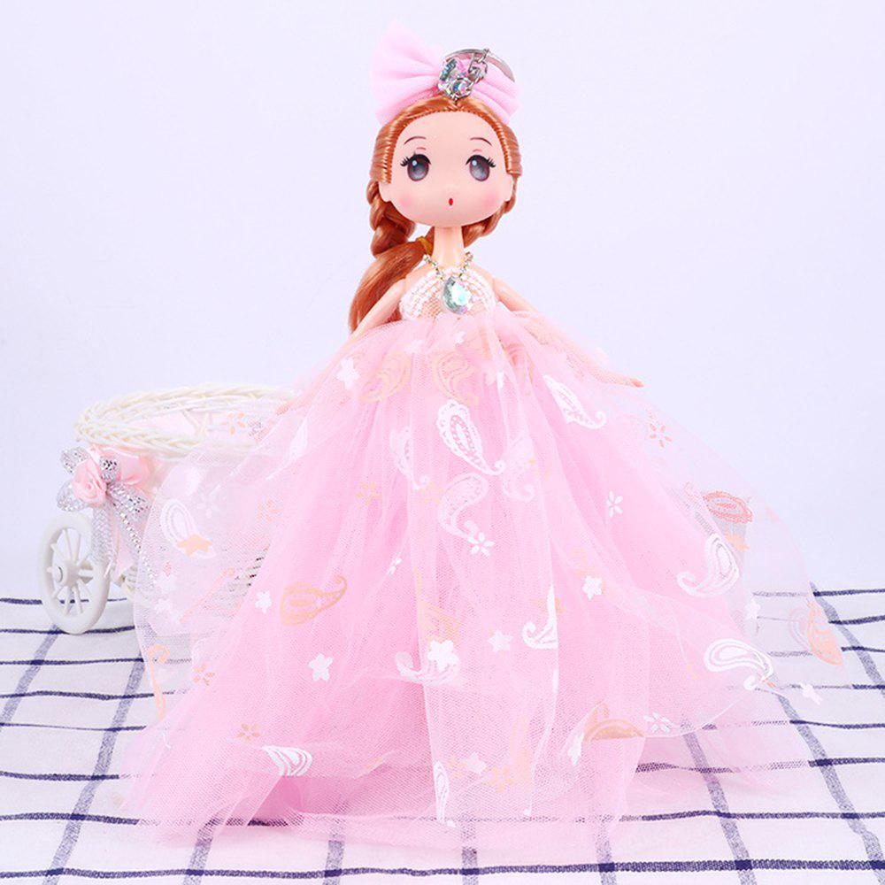 26CM Printed Camouflage Doll Wedding Dress Toy Pendant - PINK