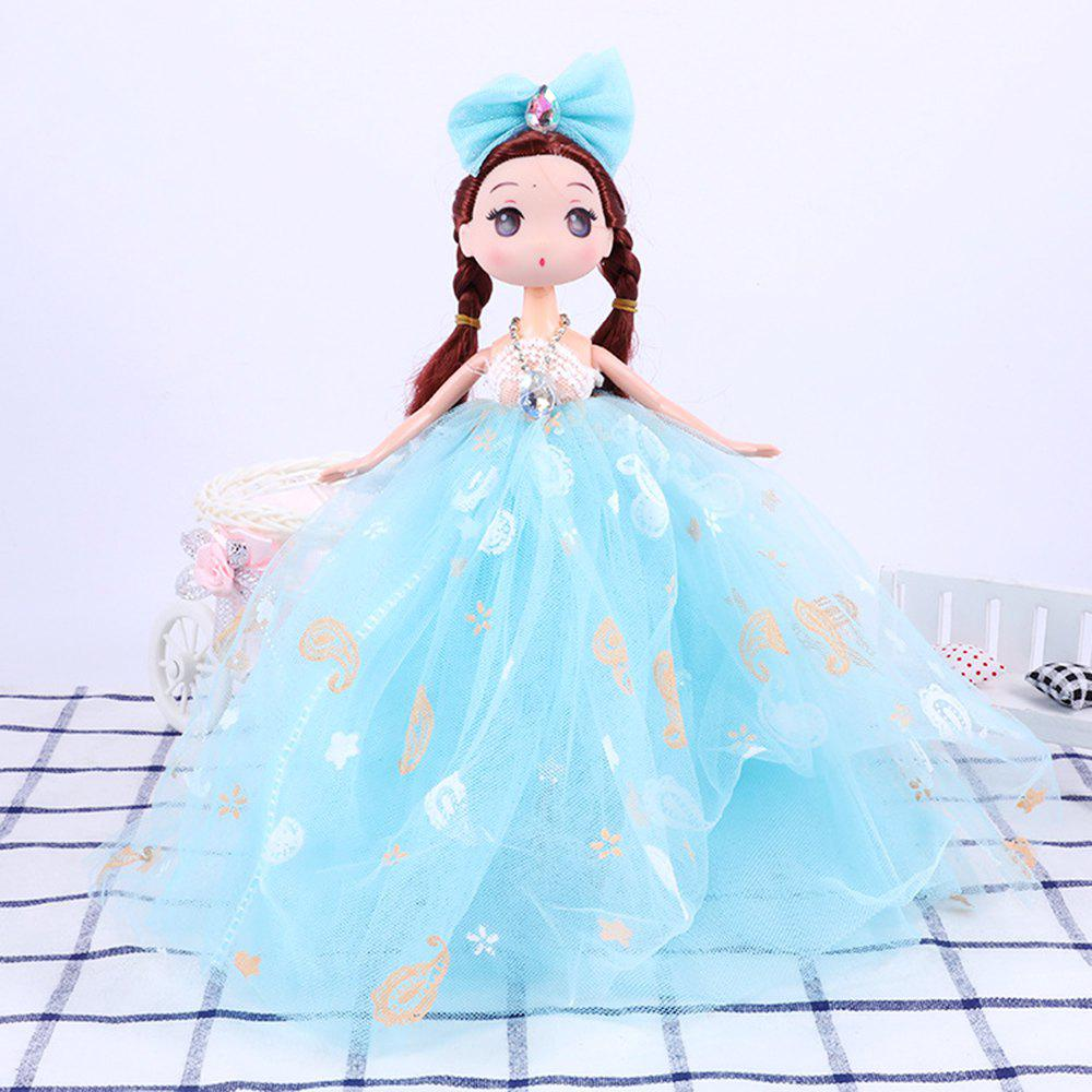 26CM Printed Camouflage Doll Wedding Dress Toy Pendant - BLUE