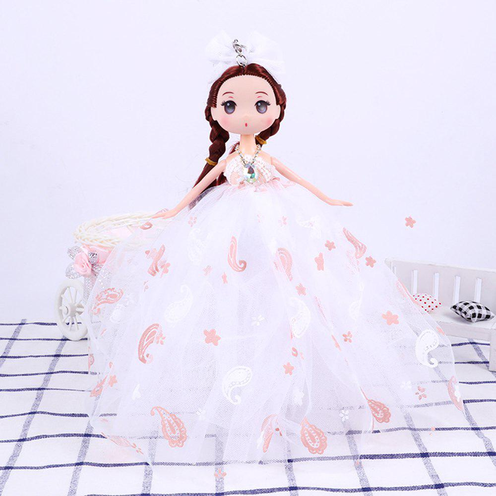 26CM Printed Camouflage Doll Wedding Dress Toy Pendant - WHITE