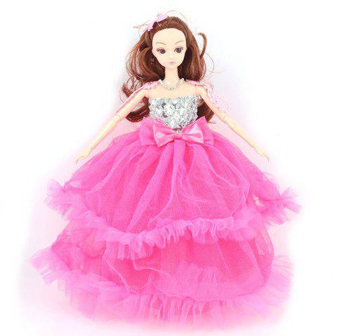 30CM Large Wedding Dress Doll Toy Pendant - ROSE RED