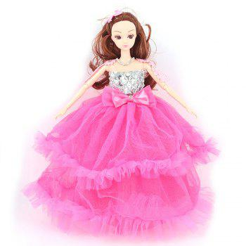 30CM Large Wedding Dress Doll Toy Pendant - ROSE RED ROSE RED