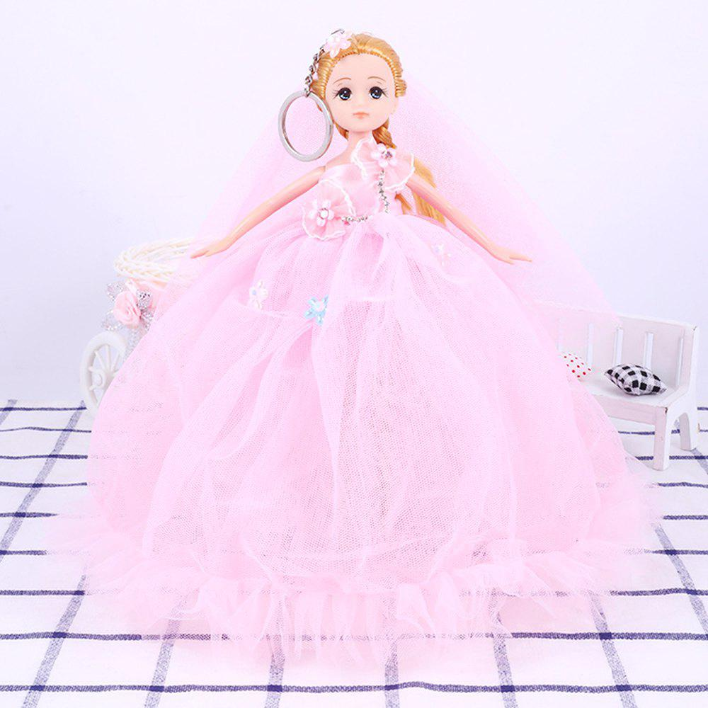 26CM Wedding Dress Lace Doll Toy Pendant - PINK