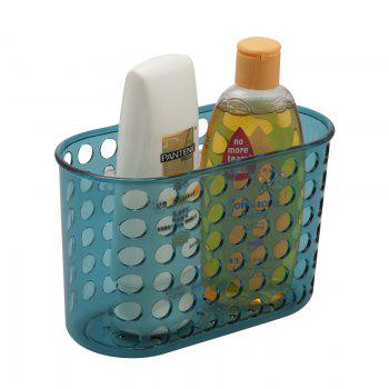 Bathroom Corner Storage Basket Shower Rack Soap Shelf Organiser Cup Tidy Suction - BLUE BLUE