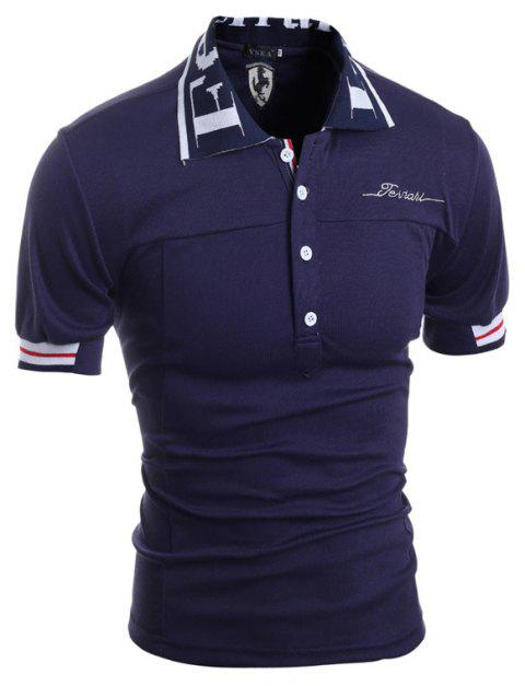 Men'S Embroidered Shirts - CADETBLUE L