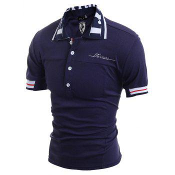 Men'S Embroidered POLO Shirts - CADETBLUE L