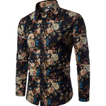 New Arrival Men S Long Sleeves Printed Shirts Floral Shirts