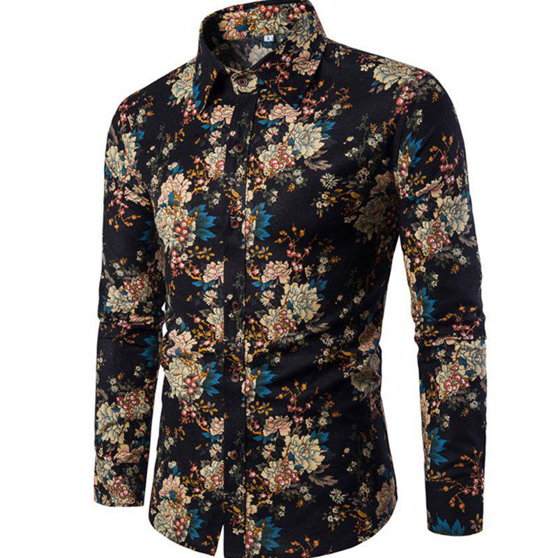 New Arrival Men'S Long Sleeves Printed Shirts Floral Shirts 239423504