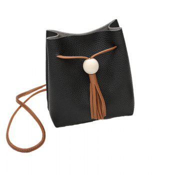 Ladies Lychee Pattern Tassel Mini Crossbody Bag