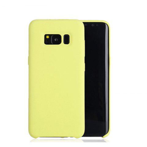 Liquid Silicone Gel Rubber Slim Fit Soft Mobile Phone with Microfiber Cloth Lining Cushion for Samsung Galaxy S8 - YELLOW