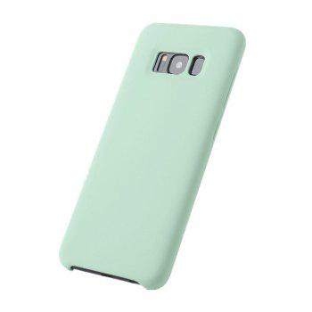 Liquid Silicone Gel Rubber Slim Fit Soft Mobile Phone with Microfiber Cloth Lining Cushion for Samsung Galaxy S8 - GREEN