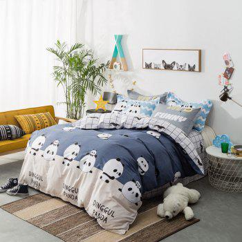 100 Percent Sanding-cotton Four-piece of Cute Panda Bedding Sets