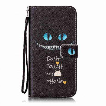 Blue Eyes Pattern PU Leather Flip Wallet Case for iPhone 7 Plus / 8 Plus