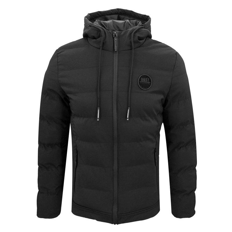 Winter Men'S Thick Hooded Cotton Fashion Casual Outer Self-Cultivation Jacket 2017 winter down jacket male korean version of self cultivation hooded thick in the long fashion trend of youth style downjacket